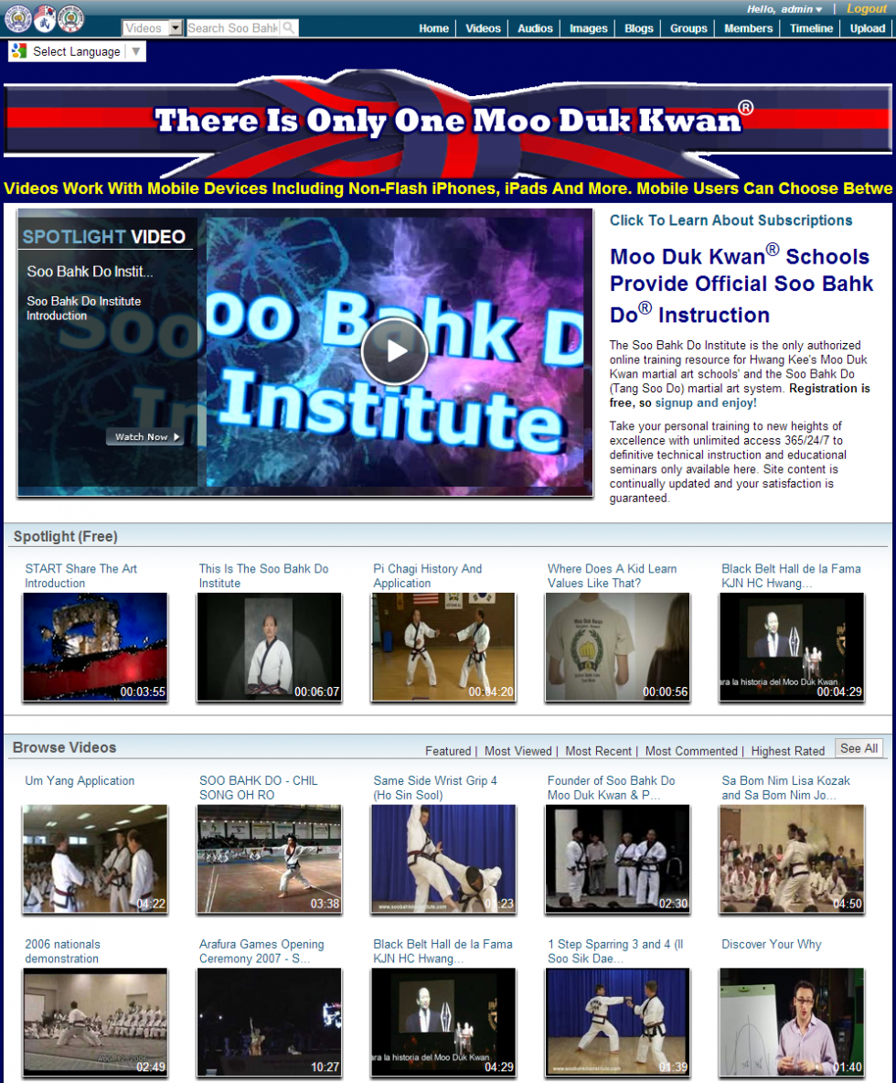 Soo Bahk Do Institute Introduction