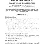 Ethics Workgroup Draft Policy Recommendations