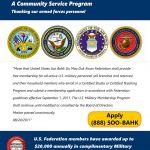 Complimentary U.S. Military Personnel Memberships